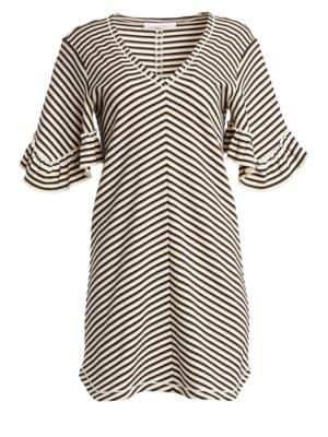 See by Chloe Stripe Cotton Dress