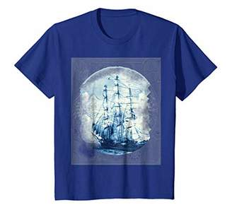 Tall ship on old map shirt