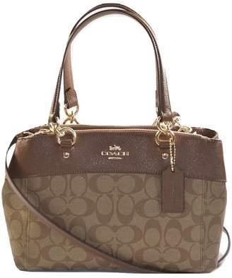 Coach Mini Brooke Carryall Handbag, Signature canvas in /Saddle 2, F26139
