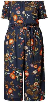 0ab3340361c5 Dorothy Perkins Womens   Dp Curve Blue Floral Print Bardot Jumpsuit