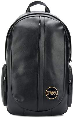 Emporio Armani rounded leather backpack