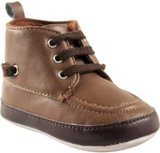 Luvable Friends Boys' High Top Boat Crib Shoe