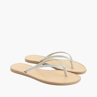 012df72c5986 at J.Crew · J.Crew Metallic leather Capri sandals