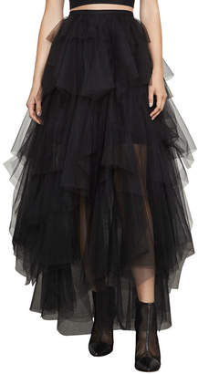 BCBGMAXAZRIA Camber Layered-Tulle Maxi Skirt
