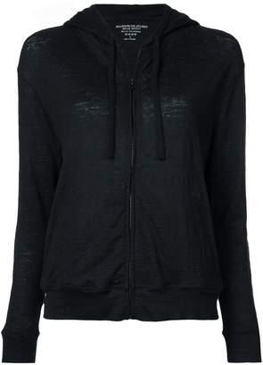 Majestic Filatures long sleeve zip-up hoodie