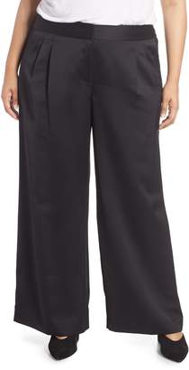 Vince Camuto Wide Leg Satin Pants