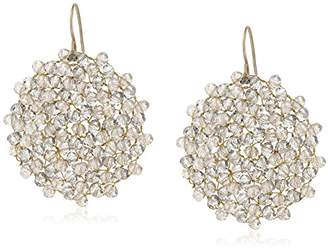 "Kenneth Cole New York Woven Item"" Topaz Woven Faceted Bead Drop Earrings"