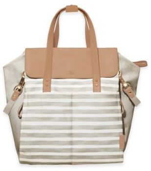 SKIP*HOP® Highline Convertible Backpack Diaper Bag in Oyster White $199.99 thestylecure.com
