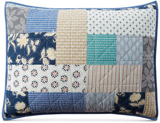 Martha Stewart Collection Contrast Patchwork Cotton Standard Sham, Created for Macy's