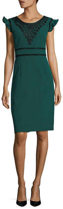 Nanette Lepore Flutter Sleeve Sheath Dress