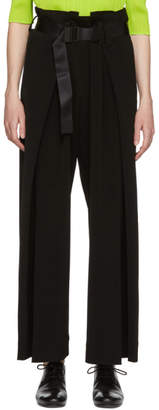 Issey Miyake Black Wide-Leg Belt Trousers