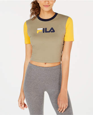 Fila Logo Colorblocked Fitted Cropped T-Shirt