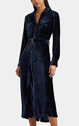 Sies Marjan Women's Edie Silk-Cotton Corduroy Shirtdress - Blue
