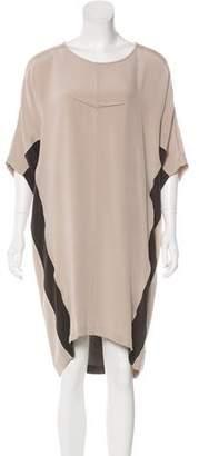 Jeremy Laing Silk Colorblock Dress