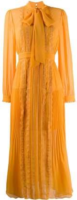 Self-Portrait long-sleeve shirt dress