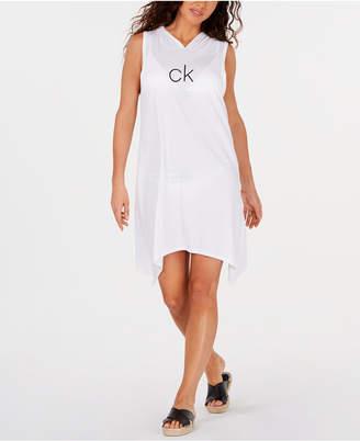 Calvin Klein Shark-Bite Hooded Cover-Up, Women Swimsuit