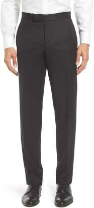 Ted Baker Josh Flat Front Wool & Mohair Tuxedo Pants
