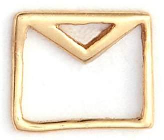 Loquet London 'Envelope' 14k yellow gold single stud earring - Love Letters