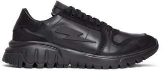 Neil Barrett Black Retro Runner Sneakers