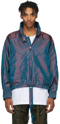 Fear Of God Burgundy and Blue Iridescent Track Jacket