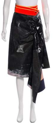 Martina Spetlova Asymmetrical Leather Skirt w/ Tags