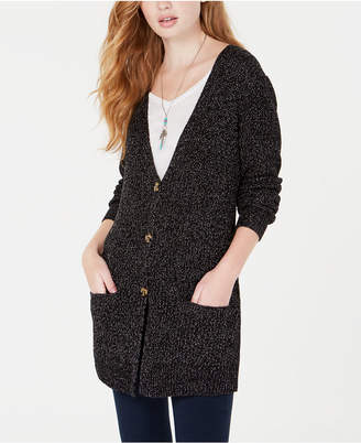 Oh! Mg Juniors' Shine Button-Front Cardigan