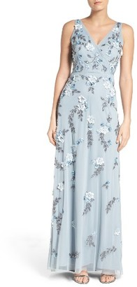 Women's Adrianna Papell Beaded Applique Gown $349 thestylecure.com