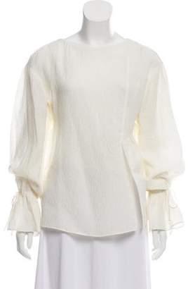 3.1 Phillip Lim Bateau Neck Long Sleeve Blouse