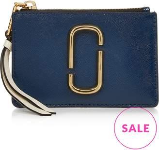 Marc Jacobs Top Zip Multi Snapshot Wallet- Blue