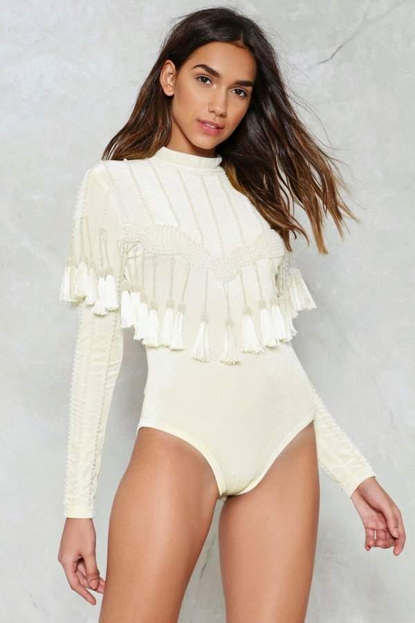 nastygal Fancy Free Velvet Bodysuit
