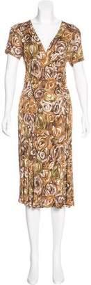 Max Mara Floral Midi Dress