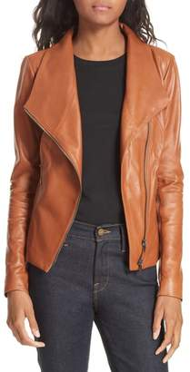 Nordstrom Signature Stand Collar Leather Jacket