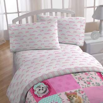 Disney Kitty Puppy 4 Piece Sheet Set