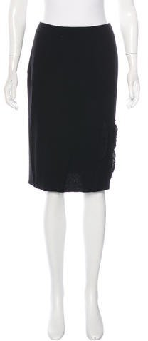 ValentinoValentino Ruffle-Accented Knee-Length Skirt