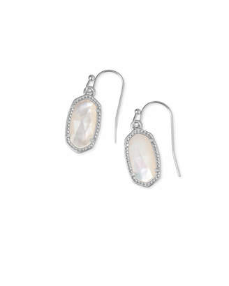 Kendra Scott Lee Silver Drop Earrings in Multicolor Drusy