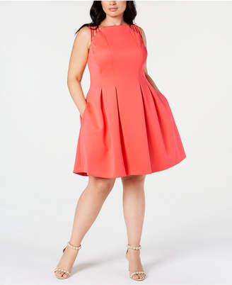 Plus Size Fit And Flare Dress Shopstyle