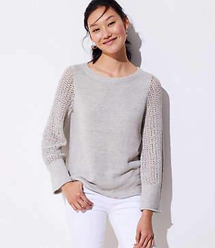 LOFT Stitched Sleeve Sweater