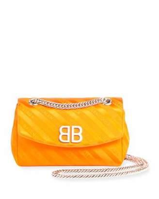 Balenciaga Chaine Round Logo Jacquard Shoulder Bag