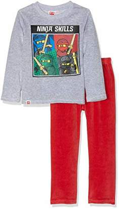 Star Wars LEGO Boy's 4315 Pyjama Set, Grey Gris, 10 Years