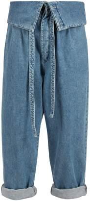 Loewe Fold-over tie-waist jeans