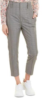 Isabel Marant Etoile Noah Checked Cotton-Blend Slim-Leg Pants