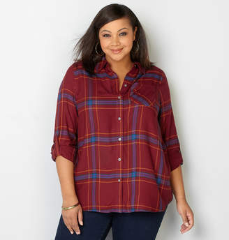 Avenue Plaid Boyfriend Shirt