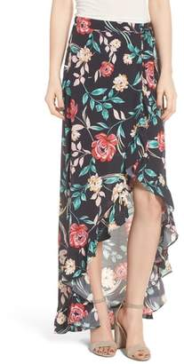 Lovers + Friends Waves for Days Maxi Wrap Skirt