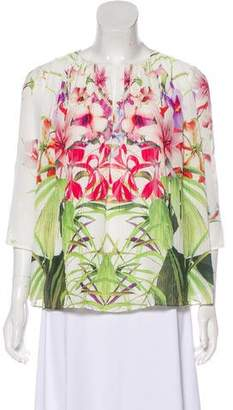 Ted Baker Pleated Floral Print Blouse