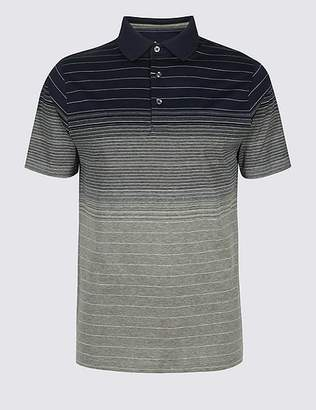 Marks and Spencer Slim Fit Pure Cotton Striped Polo Shirt