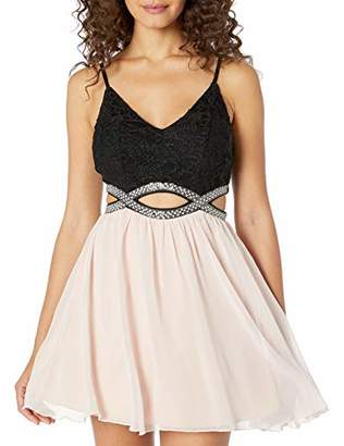 Speechless Junior's Party Dress with Waist Cut Outs