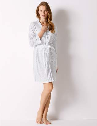 Marks and Spencer Heart Print Wrap Dressing Gown