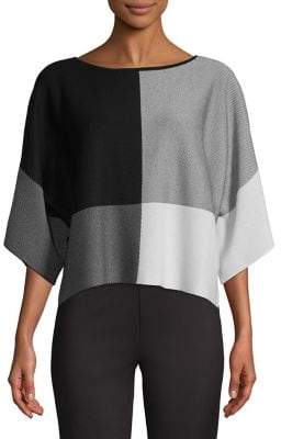 Eileen Fisher Colourblock Cropped Top