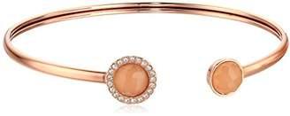 Fossil Pink Crystal Flex Bangle Bracelet