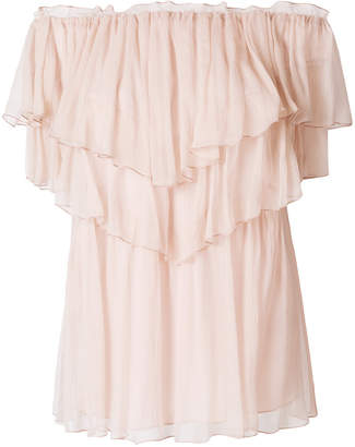 Blumarine ruffled off shoulder blouse